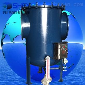 空气进入汽水分离器,并在其中以离心向下倾斜式运动