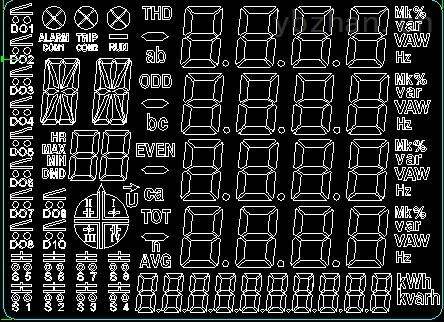 led三连七段码显示 电路图