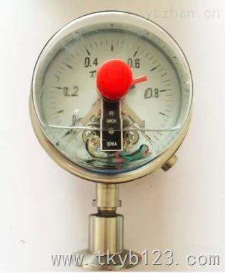 式耐震电接点压力表接线原理