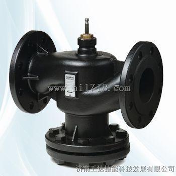 电动温度调节阀按结构分为两通阀和三通阀.图片