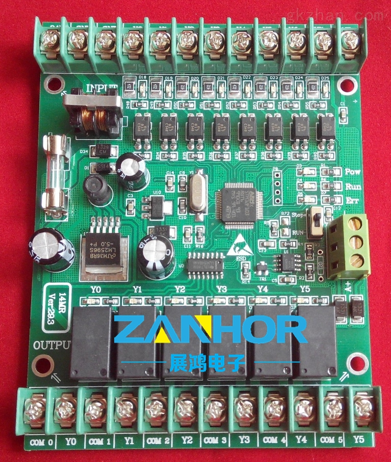 本套板子不仅设计先进合理,结实耐用,而且应用范围广泛: 1、此控制板采用进口工业级32位STM32CPU功能强大、速度更快、性能更稳定,特殊加密方式使PLC不被破解,32位的芯片就算硬件破解也无法实现。 2、梯形图电脑编程灵活方便,支持Modbus协议(注:此版只有串口,无485接口),可与人机界面(触摸屏 文本显示器)配套使用, (1).